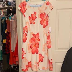 Calvin Klein pink floral dress with pockets